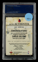 Carlos Delfino 2004-05 Fleer Authentix Autographs #CD Proof (PSA Encapsulated) at PristineAuction.com