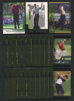 Lot of (27) 2001 Upper Deck Tiger Woods Cards with #1 Rookie Card, E-Card #E-TW at PristineAuction.com