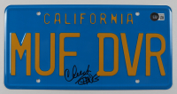 """Cheech Marin & Tommy Chong Signed """"Up in Smoke"""" 6x12 License Plate (Beckett Hologram) at PristineAuction.com"""