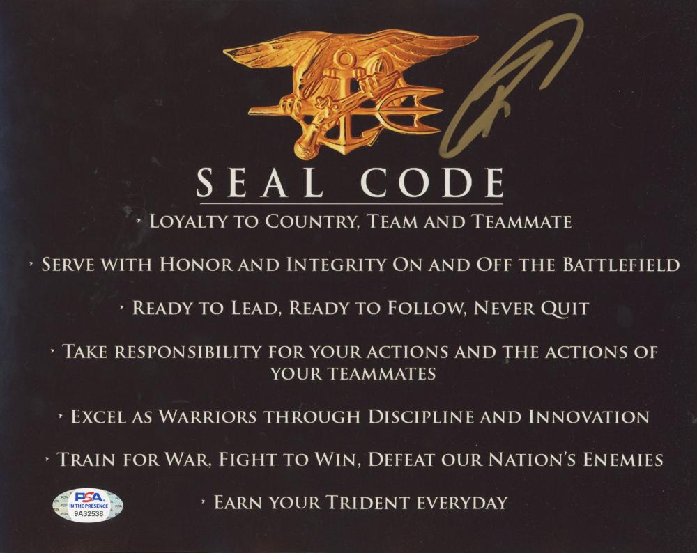 "Robert O'Neill Signed ""Seal Code"" 8x10 Photo (PSA Hologram) at PristineAuction.com"