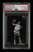 Dirk Nowitzki Signed 1998-99 Topps Chrome #154 RC (PSA Encapsulated) at PristineAuction.com
