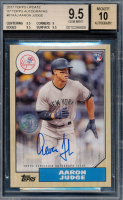 Aaron Judge 2017 Topps Update '87 Topps Autographs #87AAJ RC (BGS 9.5) at PristineAuction.com