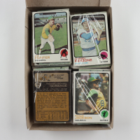 1973 Topps Baseball Card Fun Pack Box with (20) Packs with Reggie Jackson #255, Goose Gossage #174, Catfish Hunter #235 All Showing at PristineAuction.com