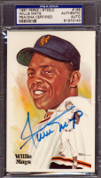Willie Mays Signed LE 1981 Perez-Steele Hall of Fame Postcard #168 (PSA Encapsulated) at PristineAuction.com