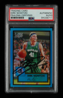 Dirk Nowitzki Signed 2005-06 Topps Style Chrome Refractors Blue #46 #113/149 (PSA Encapsulated) at PristineAuction.com
