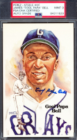 James 'Cool Papa' Bell Signed Grays 1981 Perez-Steele #141 LE Postcard (PSA Encapsulated) at PristineAuction.com