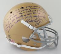 "Rudy Ruettiger Signed Notre Dame Fighting Irish Full-Size Helmet with ""5 Ft Nothin"" Speech Inscription (Ruettiger Hologram) at PristineAuction.com"