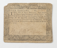 1775 Four Shillings & Six-Pence - Maryland - Colonial Currency Note at PristineAuction.com