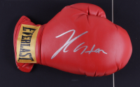 Julio Cesar Chavez Signed 17x22 Custom Framed Boxing Glove Display with 1992 Fight Pin (PSA COA) (See Description) at PristineAuction.com