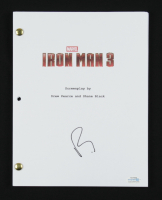 "Robert Downey Jr. Signed ""Iron Man 3"" Movie Script (AutographCOA COA) at PristineAuction.com"