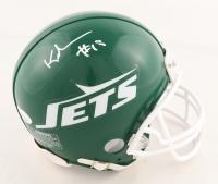 Keyshawn Johnson Signed Jets Throwback Mini Helmet (JSA COA) at PristineAuction.com
