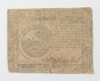 1775 $6 Six Dollars - Continental - Colonial Currency Note at PristineAuction.com