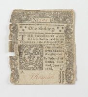 1776 1s. One Shilling - New Jersey - Colonial Currency Note (See Description) at PristineAuction.com