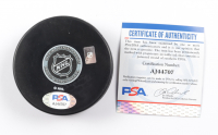 Bryan Trottier Signed Islanders Logo Hockey Puck (PSA COA) at PristineAuction.com