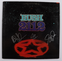 """Neil Peart, Alex Lifeson & Geddy Lee Signed """"Rush 2112"""" Vinyl Record Album (Beckett LOA) at PristineAuction.com"""