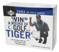 2002 Upper Deck Golf Green Grass Edition Factory Sealed Box with (24) Packs at PristineAuction.com