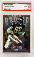 Randy Moss 1998 Finest #135 RC (PSA 10) at PristineAuction.com
