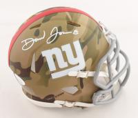 Daniel Jones Signed Giants Camo Alternate Speed Mini Helmet (JSA COA) at PristineAuction.com