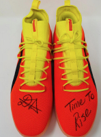 """Deandre Ayton Signed Pair of (2) LE Puma Clyde Court Disrupt Basketball Shoes Inscribed """"Time To Rise"""" (Game Day Legends Hologram & Steiner Hologrma) at PristineAuction.com"""
