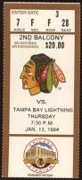 1994 NHL Blackhawks Vs. Lightning Ticket at PristineAuction.com