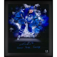 Auston Matthews Signed Maple Leafs 20x24 Custom Framed Photo Display (Fanatics Hologram) at PristineAuction.com