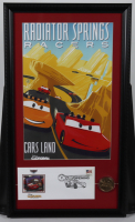 """Disneyland's """"Cars Land"""" 15x26 Print Display with Original Ride Opening Day Envelope & Park Opening Day Souvenir Coin at PristineAuction.com"""