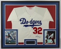 Sandy Koufax Signed 34x44 Custom Framed Jersey Display (Beckett LOA) (See Description) at PristineAuction.com