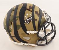 Joe Burrow Signed Bengals Camo Alternate Speed Mini Helmet (Fanatics Hologram) at PristineAuction.com