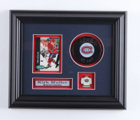 """Kirk Muller Signed Canadiens 10.5x12.5 Custom Framed Puck Display Inscribed """"93 Cup"""" (COJO COA) (See Description) at PristineAuction.com"""