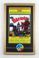 """Batman"" 15x24 Custom Framed Movie Poster with 1965 Charter Member Batman & Robin Society Fan Club Pin at PristineAuction.com"