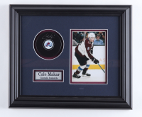Cale Makar Signed Avalanche 12.5x14.5 Custom Framed Puck Display (COJO COA) (See Description) at PristineAuction.com