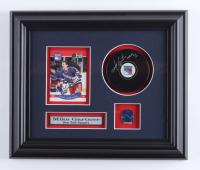 "Mike Gartner Signed Rangers 10.5x12.5 Custom Framed Puck Display Inscribed ""HOF 01"" (COJO COA) (See Description) at PristineAuction.com"