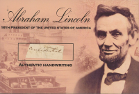 Abraham Lincoln Hand-Written Word (JSA LOA) at PristineAuction.com
