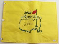 """Jack Nicklaus Signed 2014 Masters Golf Pin Flag Inscribed """"63, 65, 66, 72, 75, 86"""" (JSA LOA) at PristineAuction.com"""