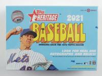 2021 Topps Heritage Baseball Mega Box with (17) Packs at PristineAuction.com