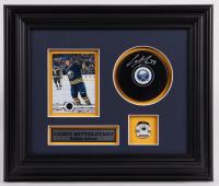 Casey Mittelstadt Signed Sabres 10.5x12.5 Custom Framed Puck Display (COJO COA) at PristineAuction.com