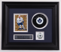 """Mats Sundin Signed Maple Leafs 10.5x12.5 Custom Framed Puck Display Inscribed """"'7"""" (COJO COA) (See Description) at PristineAuction.com"""