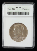 1964 Kennedy Half-Dollar (ANACS MS 63) at PristineAuction.com