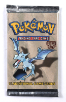 1999 Pokemon Aerodactyl Artwork Fossil Booster Pack at PristineAuction.com