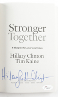 """Hillary Rodham Clinton Signed """"Stronger Together"""" Soft-Cover Book (JSA LOA) at PristineAuction.com"""