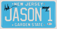 """Ari Lehman Signed """"Friday the 13th"""" New Jersey License Plate Inscribed """"Jason 1"""" (Beckett Hologram) at PristineAuction.com"""