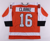 """Bobby Clarke Signed Jersey Inscribed """"Broad Street Bullies"""" (PSA COA) at PristineAuction.com"""