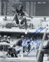 """Bob Beamon Signed 11x14 Photo Inscribed """"The Leap of the Century"""", """"29 2 1/2"""" & """"Gold 1968"""" (Schulte Sports Hologram) at PristineAuction.com"""