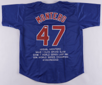Miguel Montero Signed Career Highlight Stat Jersey (JSA COA) at PristineAuction.com