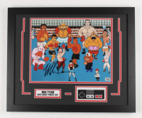 """Mike Tyson Signed """"Punch-Out!!!"""" 18x22 Custom Framed Photo Display with Replica Nintendo Controller (Fiterman Sports Hologram) at PristineAuction.com"""