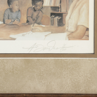 """Rosa Parks Signed LE """"The Mentor"""" 29x41 Custom Framed Print Display (Beckett LOA) (See Description) at PristineAuction.com"""