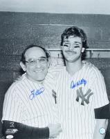 Don Mattingly & Yogi Berra Signed Yankees 16x20 Photo (JSA COA) at PristineAuction.com