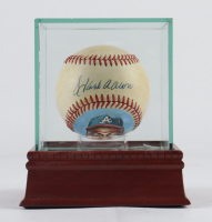 Hank Aaron Signed Hand-Painted ONL Baseball with High-Quality Display Case (JSA LOA) at PristineAuction.com