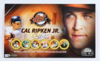 Cal Ripken Jr. Signed Commemorative Baseball Hall Of Fame Medallion Set (MLB Hologram) at PristineAuction.com