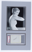 Bette Davis Signed 12x20 Custom Matted Cut Display (PSA Encapsulated) at PristineAuction.com